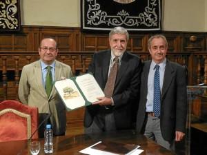Jaume Terradas ha sido homenajeado. / Foto: Fundación Fernando González Bernáldez.