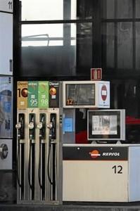 Surtidor de una gasolinera española