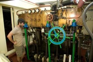 Máquina de vapor de triple expansión principios siglo XX.