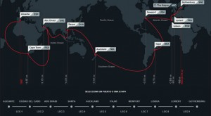 Mapa de la ruta a seguir. / Foto: Volvo Ocean Race