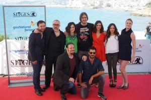 El equipo de 'Musarañas' en el Festival de Sitges. / Foto: www.facebook.com/sitgesfilmfestival