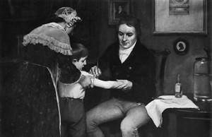 Método de vacunación descubierto por Jenner contra la viruela.