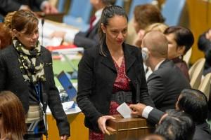 Votaciones en la Asamblea General. Foto: ONU-Mark Garten.