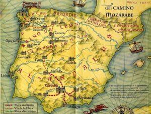 Mapas del Camino Mozárabe. / http://mozaritoantigua.blogspot.com.es