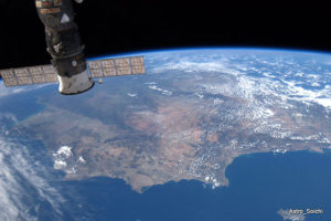 España desde la ISS por Soichi Noguchi. / http://megustavolar.iberia.com