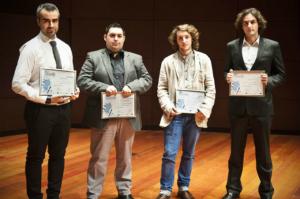 Israel López Estelche (2º por la izquierda) junto a los finalistas
