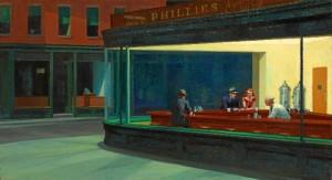 El cuadro 'Nighthawks', de Edward Hopper.