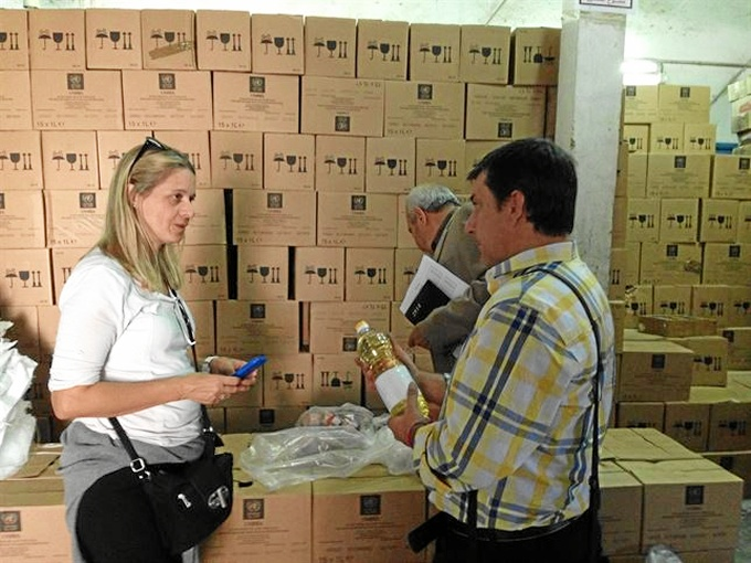 El material será enviado a Gaza. / Foto: Junta de Andalucía.