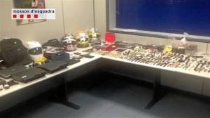Material recuperado por los Mossos. / Foto: Mossos D'Esquadra.