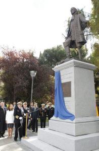 El Rey Don Juan Carlos inauguró el monumento. / Foto: Ministerio de Defensa.