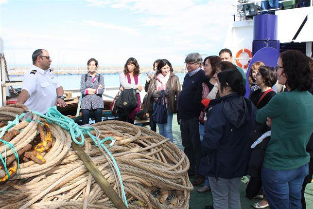 Visita al buque. / Foto: UPV
