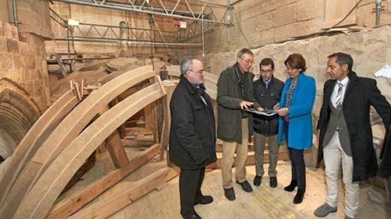 El claustro del Monasterio navarro de Fitero recupera sus bóvedas hundidas hace 120 años