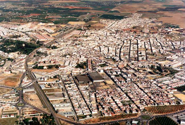 Vista aérea de Dos Hermanas (Sevilla).
