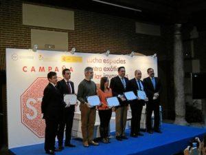 Foto de familia de los premiados. / Foto: Europa Press.