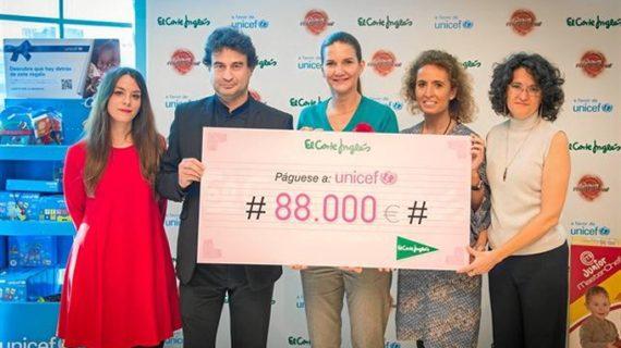 Unicef recibe la recaudación obtenida con la campaña 'Juguetes Solidarios'