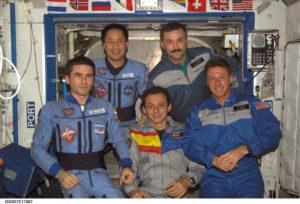 Imagen de la Misión Cervantes captada dentro de ISS. / http://www.museoespacial.es