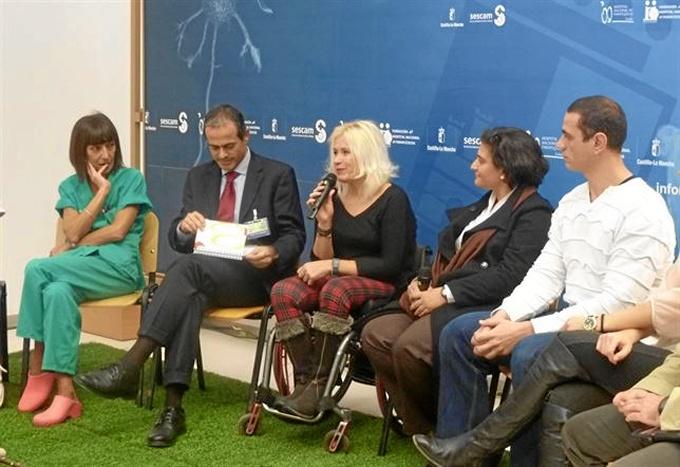 La atleta durante la presentación. / Foto: Europa Press.