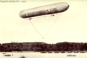 El Luftschiff Zeppelin o LZ1 en 1900. / http://diariodemarkoramius.wordpress.com