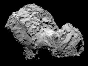 Imagen del cometa 67P/Churiumov-Guerasimenko captada por la nave Rosetta. / http://www.iaa.es