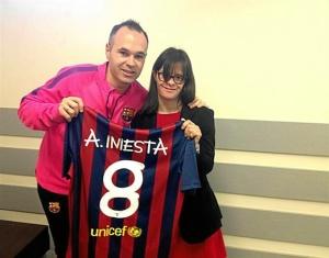 Andres Iniesta y Anna Vives