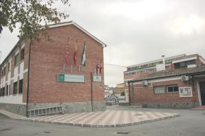 Fachada del colegio Padre Manjón de Huétor Tájar, donde se instalará la caldera de biomasa.