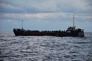 Barco rescatado