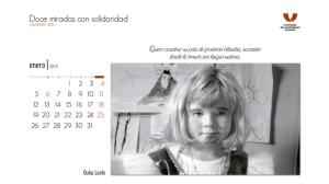 El mes de enero del calendario del Voluntariado ilustrado por Ouka Leele. / Foto: www.plataformavoluntariado.org