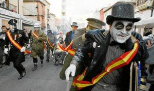 El alcade de els Enfarinats y sus milicianos. / http://www.infofesta.es