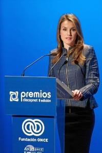 La reina Letizia durante el discurso de los II Premios Discapnet. / http://premios.discapnet.es