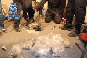 Parte del alijo encontrado. / Foto: Policía Nacional.