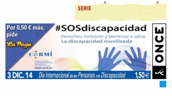 El Día Internacional de las Personas con Discapacidad protagonizará el cupón de la ONCE