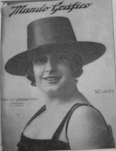 Imagen clásica de la utilización del sombrero cordobés.
