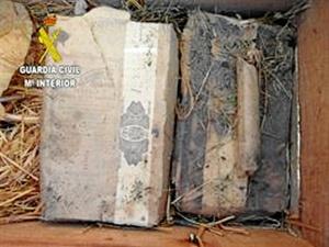 Explosivos encontrados en la vivienda