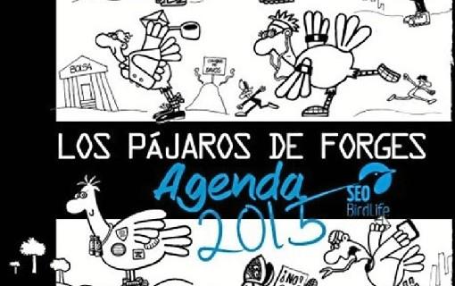 Forges y su hijo ilustran 'la agenda de Los Pájaros 2015' de SEO/BirdLife