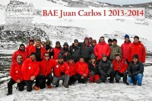 Miembros de la campaña 2013-2014 en la base Juan Carlos I.
