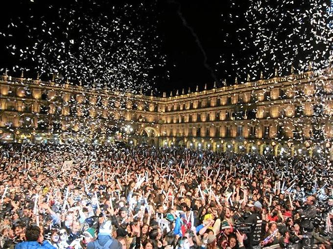 Los universitarios han celebrado la Nochevieja unos días antes. / Foto: Europa Press.