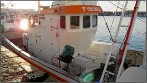 Embarcación intervenida en la 'operación almíbar'.