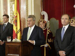 Los presidentes del Congreso de los Diputados y el Senado, Jesús Posada y Pío García Escudero, han presidido el acto. / Foto: congreso.es