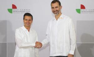 Don Felipe y el presidente de los Estados Unidos Mexicanos, Enrique Peña Nieto. / Foto: Casa Real.