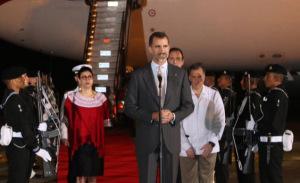 El Rey pronunció unas palabras a su llegada a México. / Foto: Casa Real.