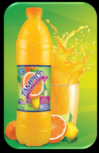 El sabor Citrus Punch de Tampico, con naranja, mandarina, lima y limón.