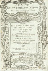 'Le vite de' piu eccellenti pittori, scultori, e architettori', primer volumen de la tercera parte de Giorgio Vasari.