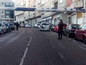 Zona acordonada tras el tiroteo en Vigo. / Foto: Europa Press.