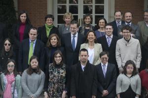 Miembros de la Asociación Síndrome de Down fueron recibidos por Rajoy.