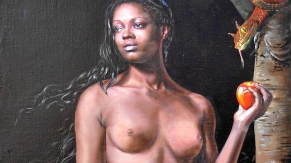 Jesús Monge retrata la versión africana de Adán y Eva en su última exposición de pintura