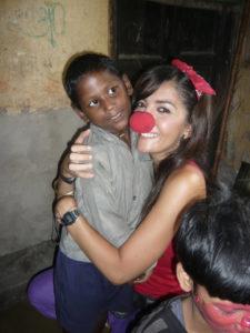 Sofía Valero con uno de los pequeños principitos.