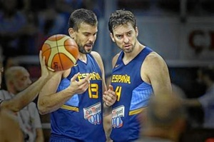 Los hermanos Gasol con España
