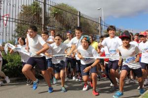 Niños en una edición anterior de la carrera.