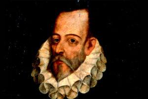 Retrato de Miguel de Cervantes Saavedra. / http://www.historiayarqueologia.com