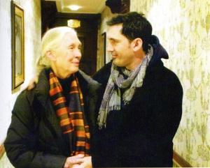César Bona junto a la emabajadora mundial de la paz Jane Goodall. / Foto: esbor.blogspot.com.es